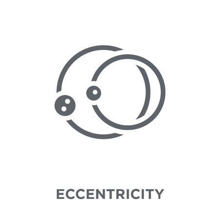 Eccentricity icon. Eccentricity design concept from Astronomy collection. Simple element vector illustration on white background.