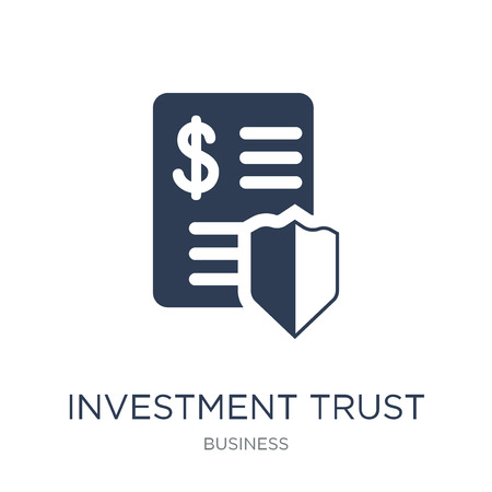 Investment trust icon. Trendy flat vector Investment trust icon on white background from Business collection, vector illustration can be use for web and mobile, eps10
