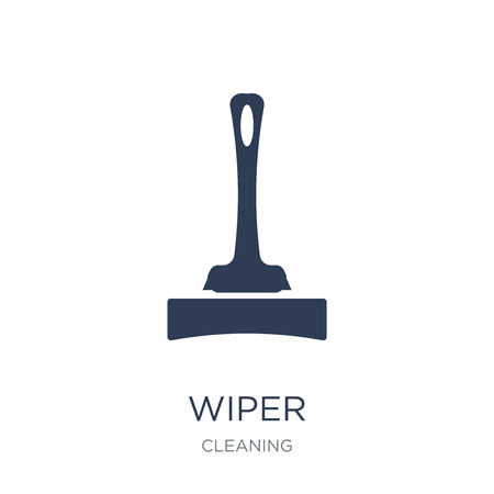 Wiper icon. Trendy flat vector Wiper icon on white background from Cleaning collection, vector illustration can be use for web and mobile, eps10 Reklamní fotografie - 111876258