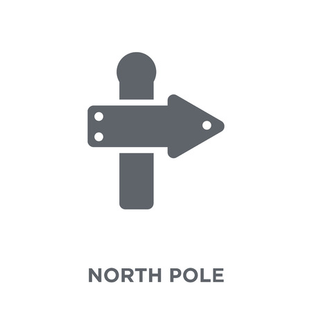 North pole icon. North pole design concept from Christmas collection. Simple element vector illustration on white background.