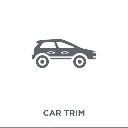 car trim icon. car trim design concept from Car parts collection. Simple element vector illustration on white background.
