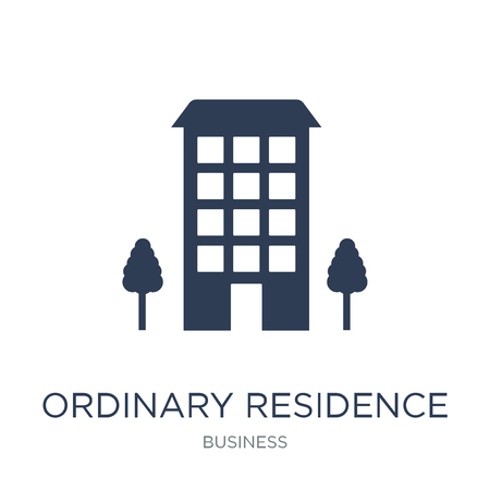 Ordinary residence icon. Trendy flat vector Ordinary residence icon on white background from business collection, vector illustration can be use for web and mobile, eps10