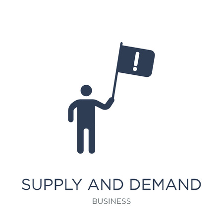 Supply and demand icon. Trendy flat vector Supply and demand icon on white background from business collection, vector illustration can be use for web and mobile, eps10