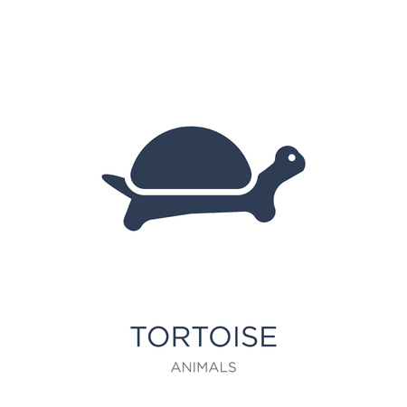 Tortoise icon. Trendy flat vector Tortoise icon on white background from animals collection, vector illustration can be use for web and mobile, eps10