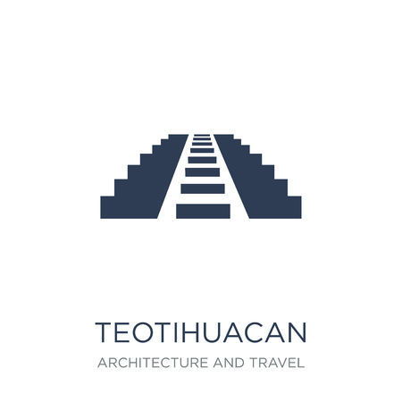 Icône de Teotihuacan. Icône de Teotihuacan vecteur plat sur fond blanc de la collection Architecture et voyage, illustration vectorielle peut être utilisé pour le web et mobile, eps10
