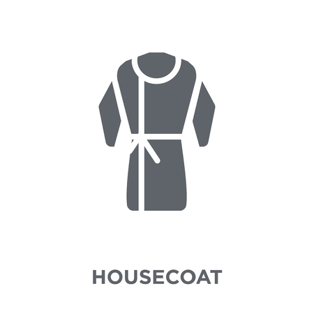 Housecoat icon. Housecoat design concept from Clothes collection. Simple element vector illustration on white background. Ilustração