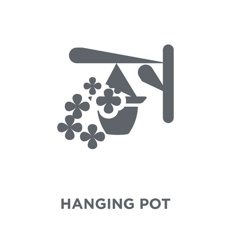 Hanging pot icon. Hanging pot design concept from Agriculture, Farming and Gardening collection. Simple element vector illustration on white background.