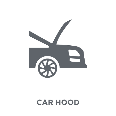 car hood icon. car hood design concept from Car parts collection. Simple element vector illustration on white background.