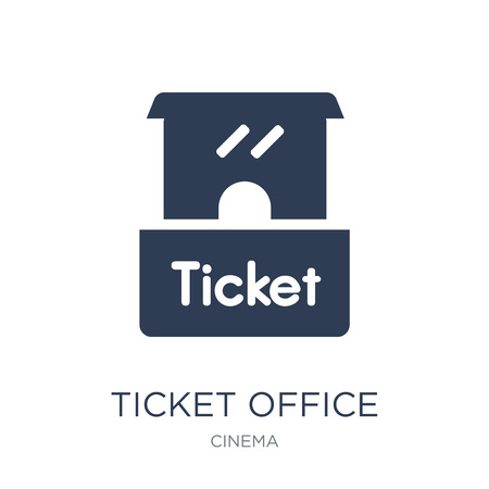 Ticket office icon. Trendy flat vector Ticket office icon on white background from Cinema collection, vector illustration can be use for web and mobile, eps10