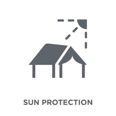 Sun protection icon. Sun protection design concept from Camping collection. Simple element vector illustration on white background. Stock Vector - 111876410
