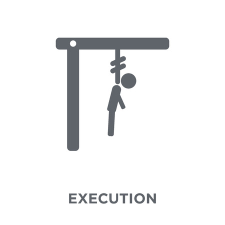 execution icon. execution design concept from Army collection. Simple element vector illustration on white background.