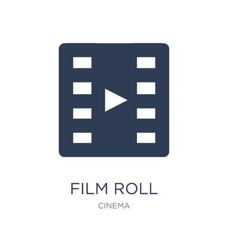Film roll icon. Trendy flat vector Film roll icon on white background from Cinema collection, vector illustration can be use for web and mobile, eps10