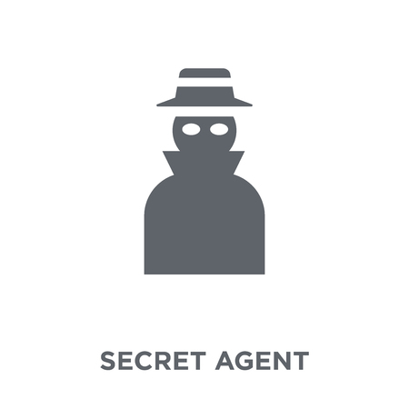 secret agent icon. secret agent design concept from Army collection. Simple element vector illustration on white background. Reklamní fotografie - 111839154