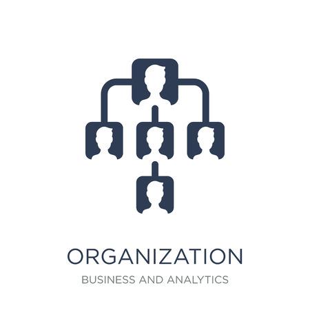 Icono de organización. Icono de organización de moda vector plano sobre fondo blanco de colección de negocios y análisis, Ilustración de vectores se puede utilizar para web y móvil, eps10