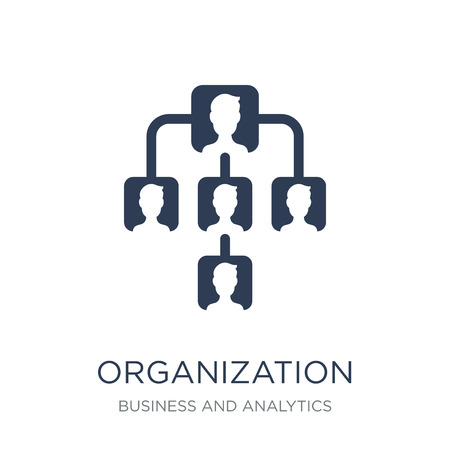 Organization icon. Trendy flat vector Organization icon on white background from Business and analytics collection, vector illustration can be use for web and mobile, eps10