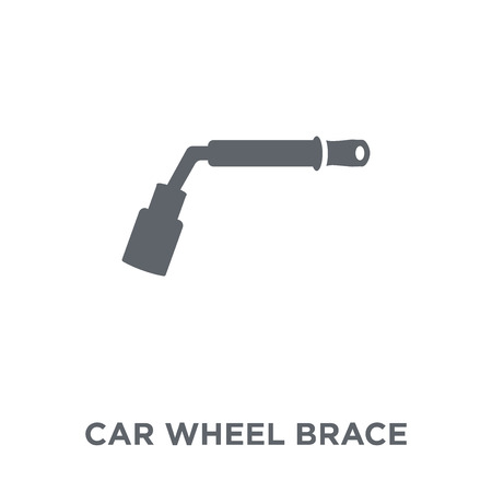car wheel brace icon. car wheel brace design concept from Car parts collection. Simple element vector illustration on white background.