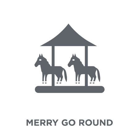 Merry go round icon. Merry go round design concept from Circus collection. Simple element vector illustration on white background. Illustration