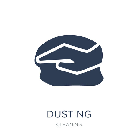 Dusting icon. Trendy flat vector Dusting icon on white background from Cleaning collection, vector illustration can be use for web and mobile, eps10 Banco de Imagens - 111876723