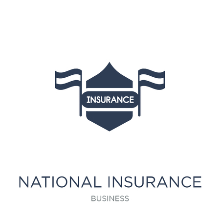 National insurance icon. Trendy flat vector National insurance icon on white background from Business collection, vector illustration can be use for web and mobile, eps10