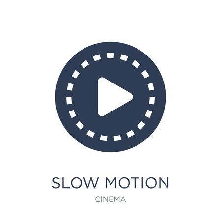icono de cámara lenta. Icono de cámara lenta de moda vector plano sobre fondo blanco de colección de cine, Ilustración de vectores se puede utilizar para web y móvil, eps10 Ilustración de vector