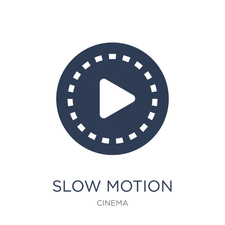 slow motion icon. Trendy flat vector slow motion icon on white background from Cinema collection, vector illustration can be use for web and mobile, eps10 Ilustracje wektorowe