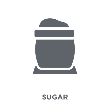 Sugar icon. Sugar design concept from Agriculture, Farming and Gardening collection. Simple element vector illustration on white background. Illustration