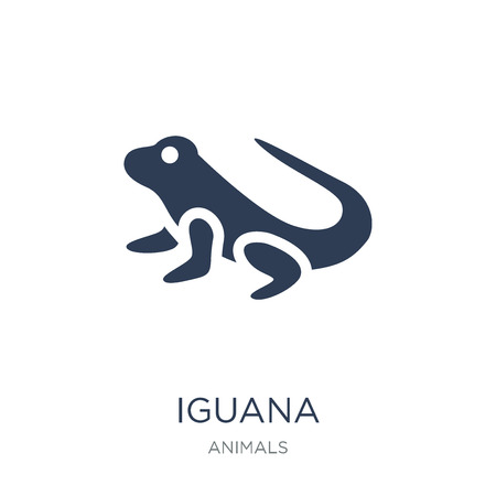 iguana icon. Trendy flat vector iguana icon on white background from animals collection, vector illustration can be use for web and mobile, eps10
