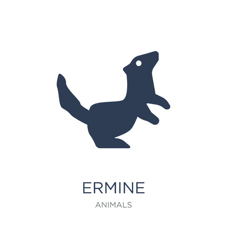 Ermine icon. Trendy flat vector Ermine icon on white background from animals collection, vector illustration can be use for web and mobile, eps10