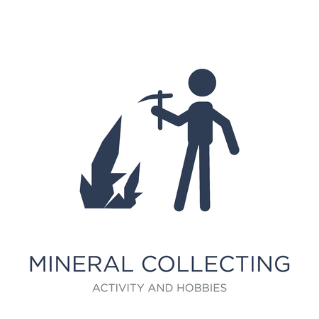 Mineral collecting icon. Trendy flat vector Mineral collecting icon on white background from Activity and Hobbies collection, vector illustration can be use for web and mobile, eps10