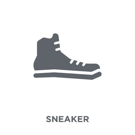 Sneaker icon. Sneaker design concept from  collection. Simple element vector illustration on white background.