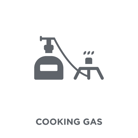 Cooking gas icon. Cooking gas design concept from Camping collection. Simple element vector illustration on white background. Stock Vector - 111876741