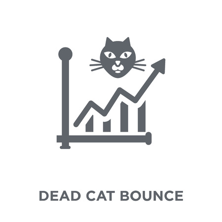 Dead cat bounce icon. Dead cat bounce design concept from Dead cat bounce collection. Simple element vector illustration on white background. Çizim
