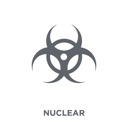 Nuclear icon. Nuclear design concept from Army collection. Simple element vector illustration on white background. 向量圖像