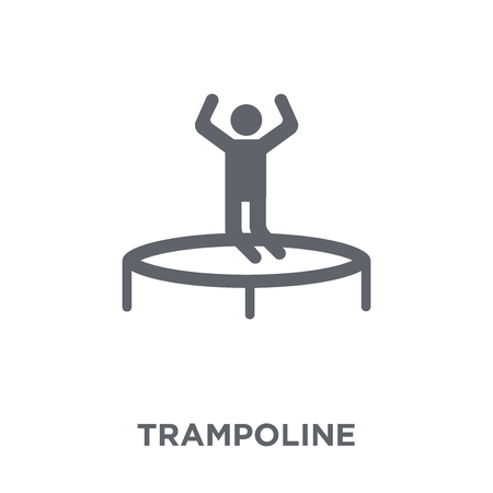 Trampoline icon. Trampoline design concept from Circus collection. Simple element vector illustration on white background. Foto de archivo - 111876745