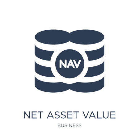 Net asset value icon. Trendy flat vector Net asset value icon on white background from Business collection, vector illustration can be use for web and mobile, eps10 스톡 콘텐츠 - 111918620