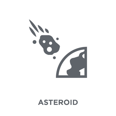 Asteroid icon. Asteroid design concept. Simple element vector illustration on white background.