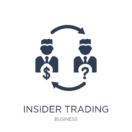 Insider trading icon. Trendy flat vector Insider trading icon on white background from Business collection, vector illustration can be use for web and mobile, eps10