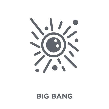 Icône de big bang. Collection de concept de conception de big bang. Illustration vectorielle élément simple sur fond blanc. Vecteurs