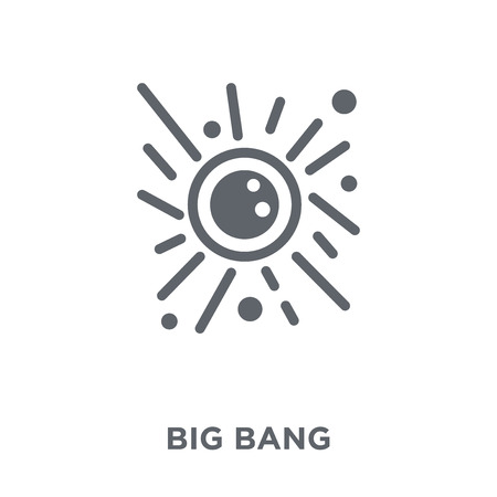 Big bang icon. Big bang design concept collection. Simple element vector illustration on white background.