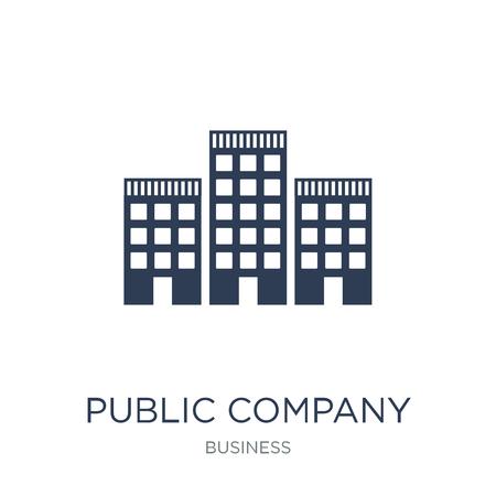 Pictogram van het openbare bedrijf. Trendy platte vector beursgenoteerde pictogram op witte achtergrond uit zakelijke collectie, vectorillustratie kan worden gebruikt voor web en mobiel, eps10