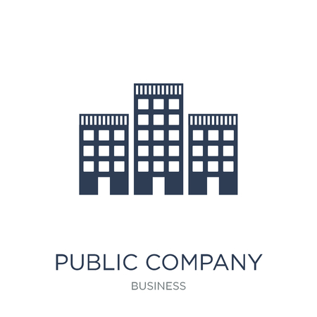 Public company icon. Trendy flat vector Public company icon on white background from business collection, vector illustration can be use for web and mobile, eps10