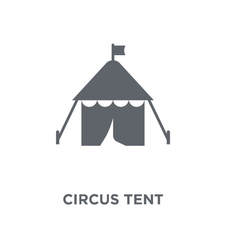 Circus Tent icon. Circus Tent design concept from Circus collection. Simple element vector illustration on white background.