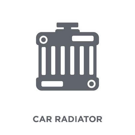 car radiator icon. car radiator design concept from Car parts collection. Simple element vector illustration on white background. Stock Vector - 111939953