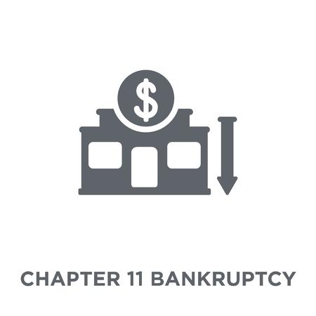 Icône de faillite du chapitre 11. Concept de conception de faillite du chapitre 11 de la collection de faillite du chapitre 11. Illustration vectorielle élément simple sur fond blanc. Vecteurs