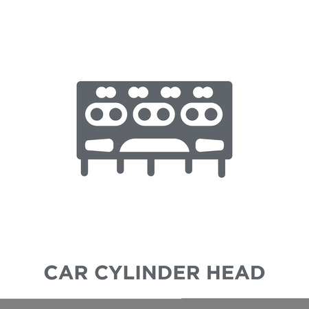 car cylinder head icon. car cylinder head design concept from Car parts collection. Simple element vector illustration on white background.