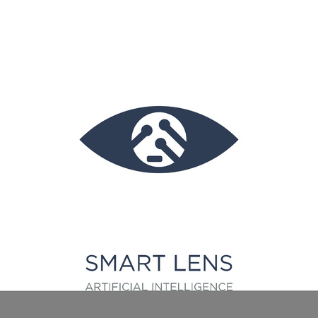 Smart lens icon. Trendy flat vector Smart lens icon on white background from Artificial Intelligence, Future Technology collection, vector illustration can be use for web and mobile, eps10