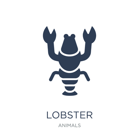 Lobster icon. Trendy flat vector Lobster icon on white background from animals collection, vector illustration can be use for web and mobile, eps10 Ilustração