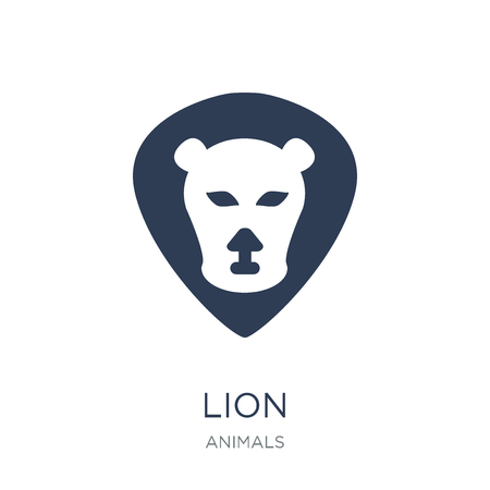 Lion icon. Trendy flat vector Lion icon on white background from animals collection, vector illustration can be use for web and mobile, eps10