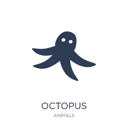 Octopus icon. Trendy flat vector Octopus icon on white background from animals collection, vector illustration can be use for web and mobile, eps10