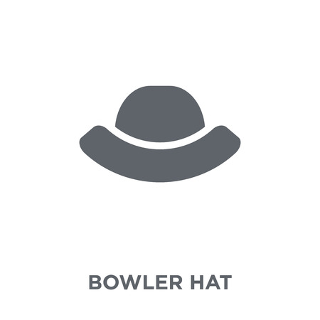 Bowler hat icon. Bowler hat design concept from  collection. Simple element vector illustration on white background. Illustration